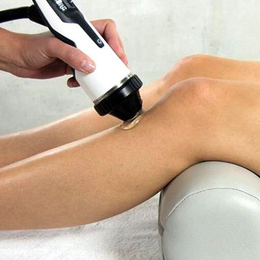 focused shockwave therapy on leg